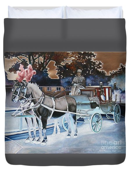 Night Coach Duvet Cover