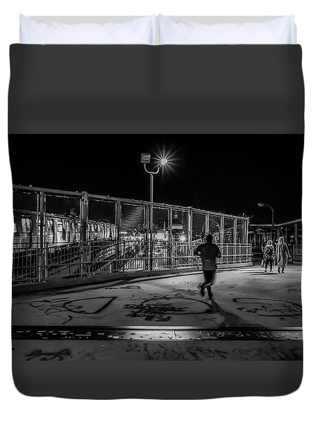 Night Commute  Duvet Cover by Jeffrey Friedkin