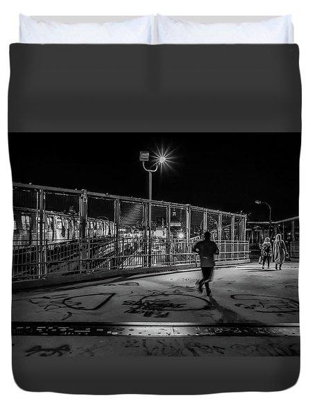 Night Commute  Duvet Cover