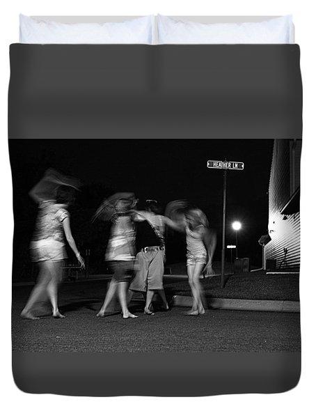 Night Dancing Duvet Cover