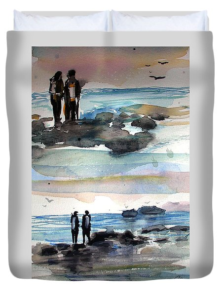 Night Dive Duvet Cover