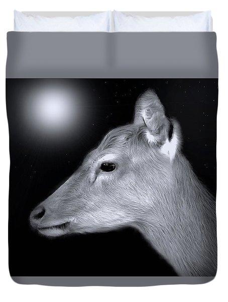 Night Doe Duvet Cover by Marion Johnson