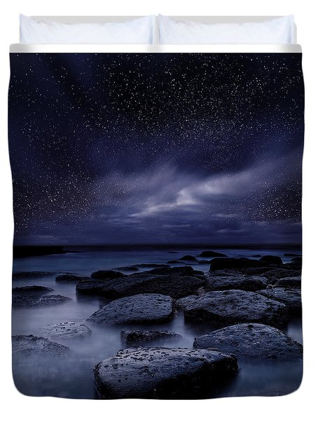 Night Enigma Duvet Cover by Jorge Maia