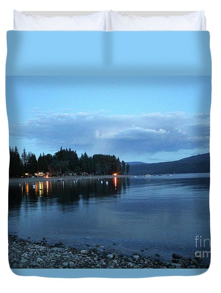 Duvet Cover featuring the photograph Night Fall by Victor K