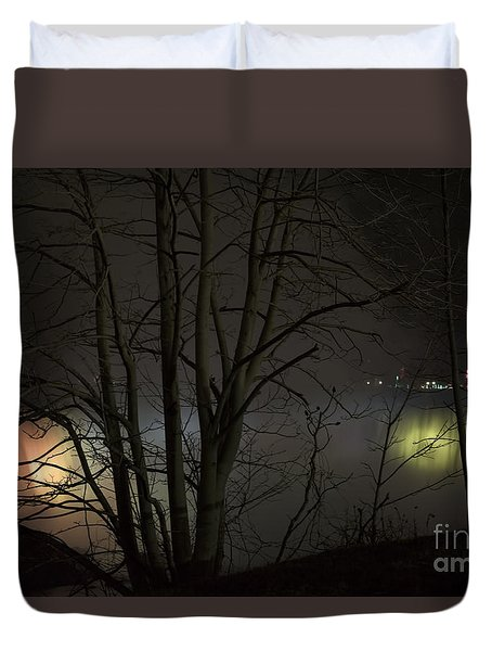 Night Falls Duvet Cover by Judy Wolinsky