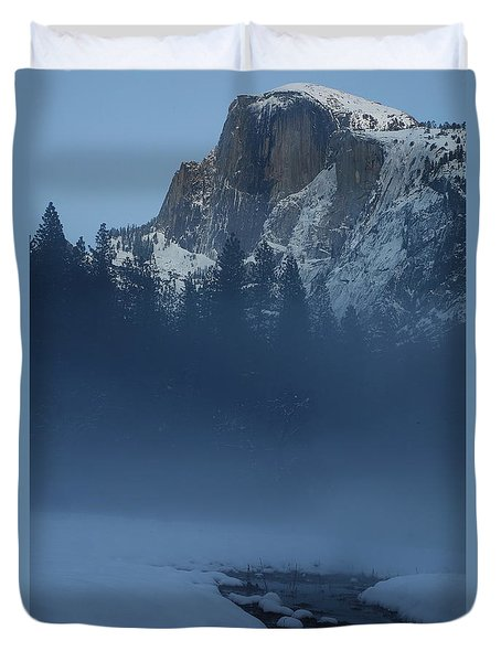Duvet Cover featuring the photograph Night Falls Upon Half Dome At Yosemite National Park by Jetson Nguyen
