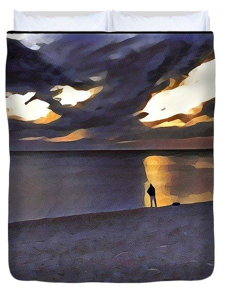 Night Fisher Duvet Cover