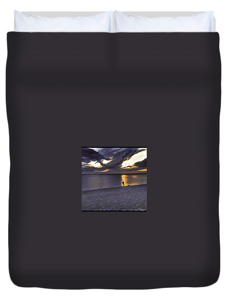 Night Fisher Duvet Cover