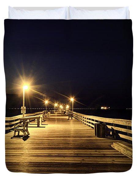 Night Fishin' Duvet Cover