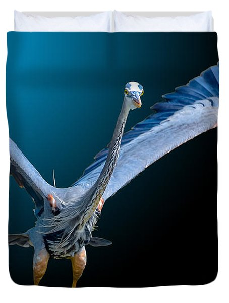 Night Flight 2 Duvet Cover by Brian Stevens