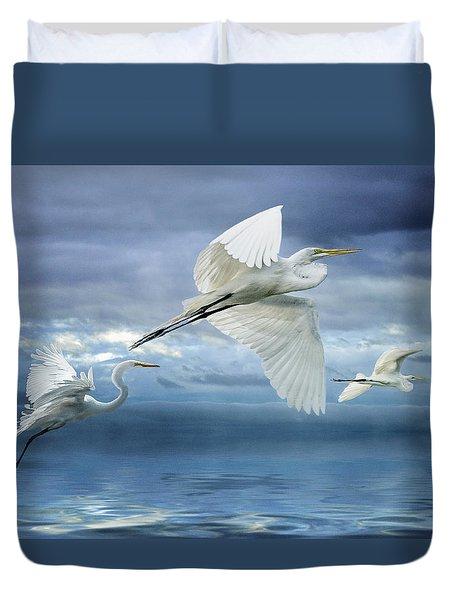 Night Flight Duvet Cover
