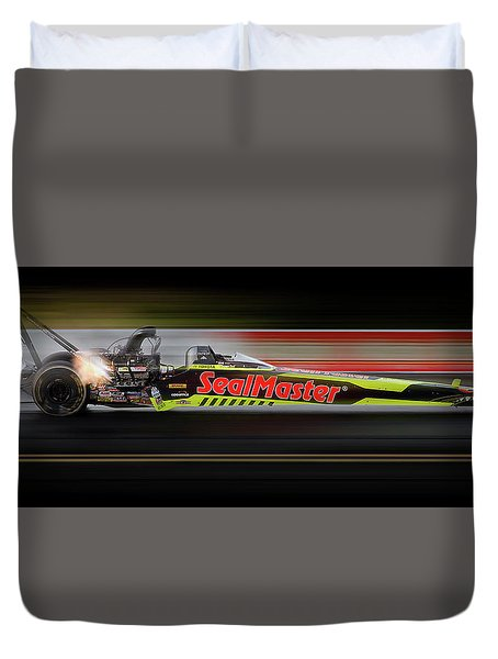 Duvet Cover featuring the digital art Night Flight by Peter Chilelli