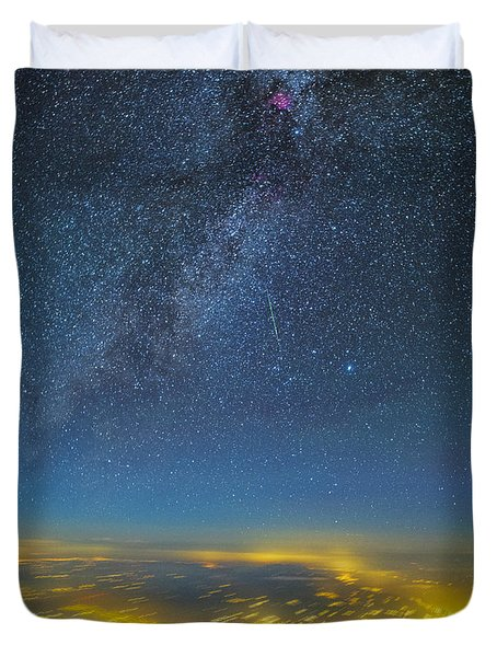 Night Flight Duvet Cover