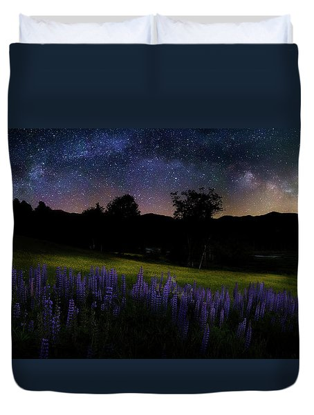 Duvet Cover featuring the photograph Night Flowers by Bill Wakeley