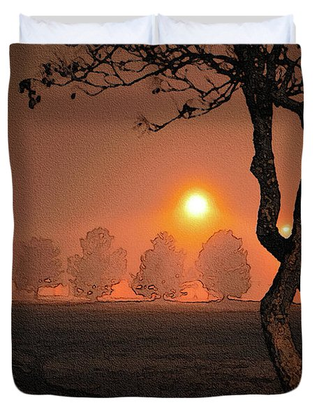 Night Fog Duvet Cover by Betty LaRue