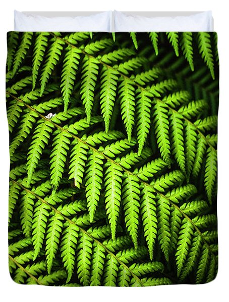 Night Forest Frond Duvet Cover