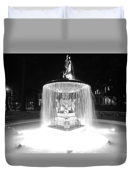 Night Fountain Duvet Cover