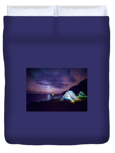 Night Gazer Duvet Cover