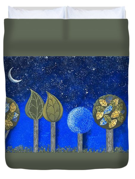 Night Grove Duvet Cover