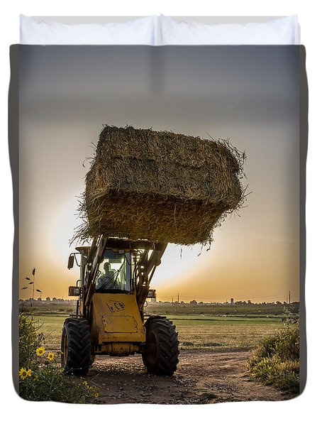 Night Harvesting Duvet Cover