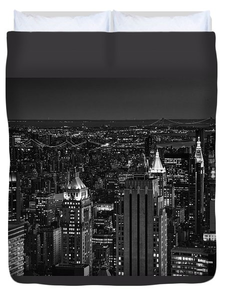 Night In Manhattan Duvet Cover