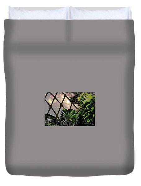 Night In The Arboretum Duvet Cover by Deborah Nakano