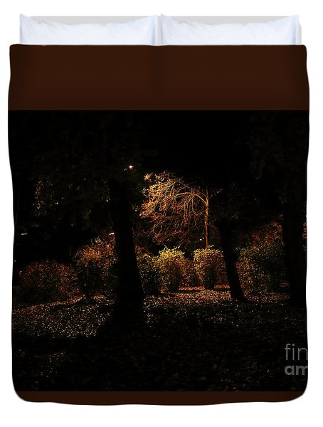 Night In The Park  Duvet Cover
