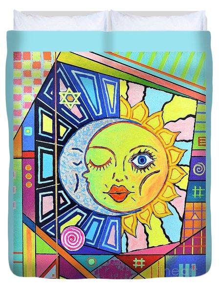 Night Kisses Daylight Duvet Cover