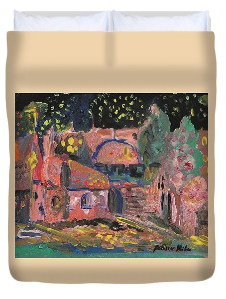 Night Landscape Duvet Cover