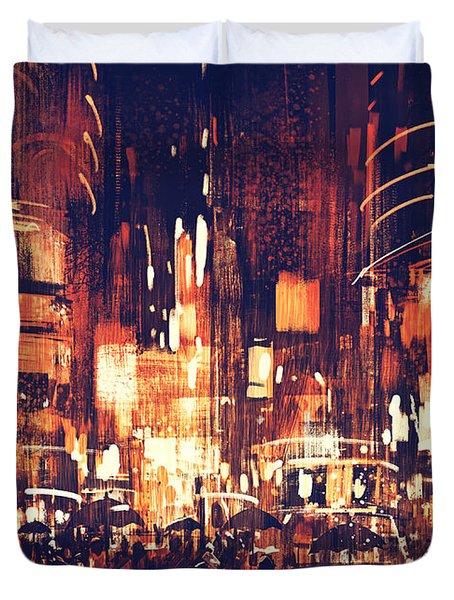 Night Life Duvet Cover