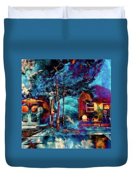 Night Light Duvet Cover by Theresa Marie Johnson