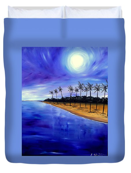 Night Lights Duvet Cover by Lisa Aerts