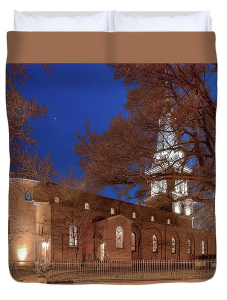 Night Lights St Anne's In The Circle Duvet Cover