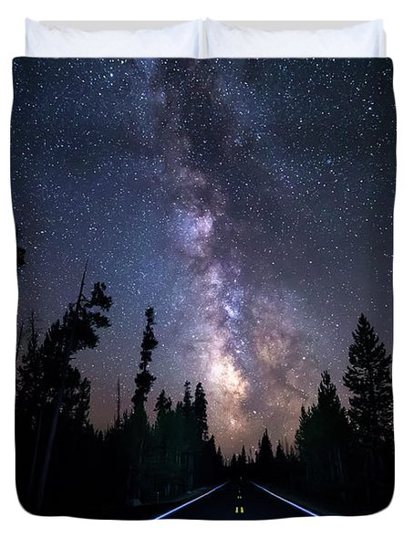 Night Moves Into The Milky Way Duvet Cover