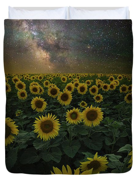 Night Of A Billion Suns Duvet Cover
