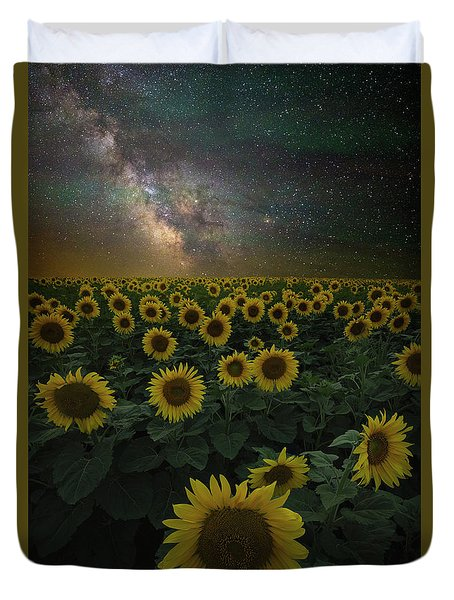 Duvet Cover featuring the photograph Night Of A Billion Suns by Aaron J Groen