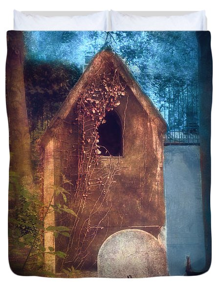 Night Of Halloween Duvet Cover