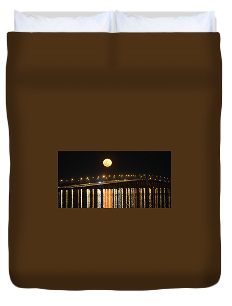 Night Of Lights Duvet Cover by Gary Smith