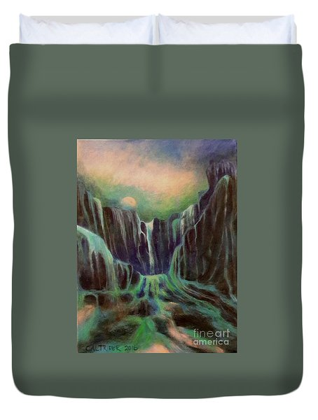 Night Of The Fall  Duvet Cover by Alison Caltrider