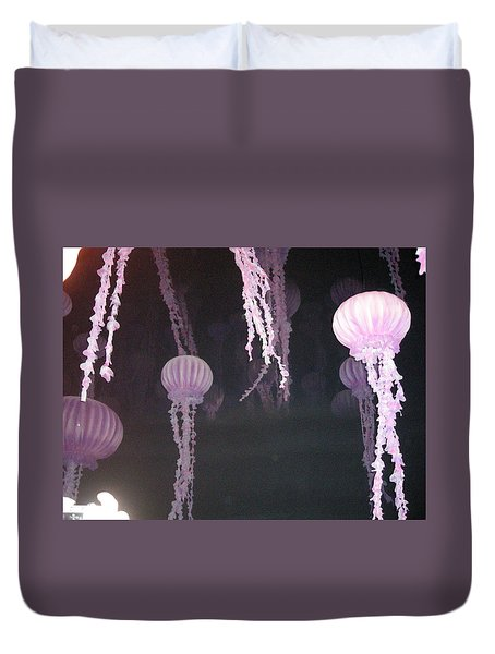 Night Of The Jellies Duvet Cover
