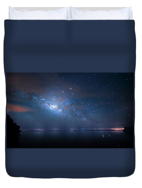 Duvet Cover featuring the photograph Night Of The Milky Way by Mark Andrew Thomas