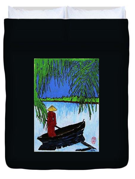 Night On The Perfume River Duvet Cover