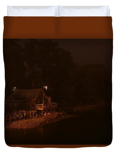 Night On The River Duvet Cover