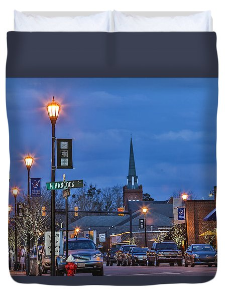 Night On The Town Duvet Cover