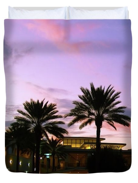 Night On The Town Palm Beach Florida Photo 515 Duvet Cover