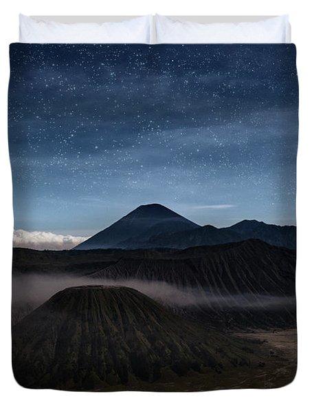 Night Over Mount Bromo - Java Duvet Cover