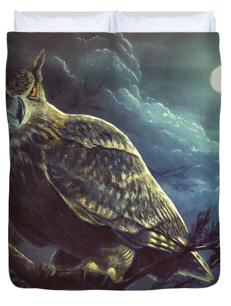 Night Owl Duvet Cover