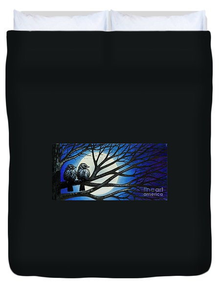 Night Perch Duvet Cover