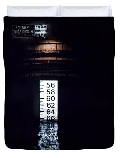 Duvet Cover featuring the photograph Night Piling by Richard Bean