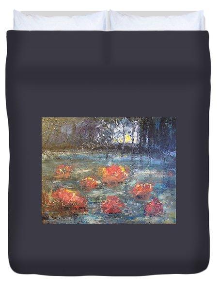 Night Pond Duvet Cover